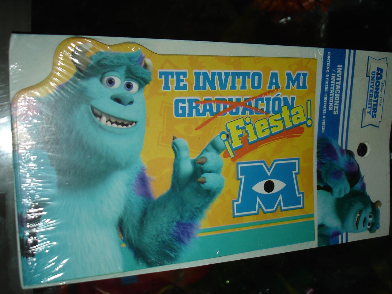 INVITACIONES DE SULLEY MONSTER UNIVERSITY